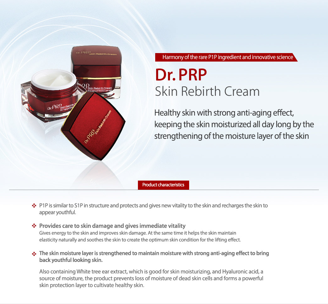 Dr. PRP Skin Rebirth Cream 30ml/ Authentic / International Shipping from Korea description 1